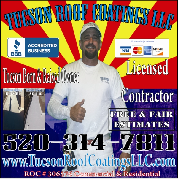 Justin Tucson Roof Coatings LLC Banner 600 x 603