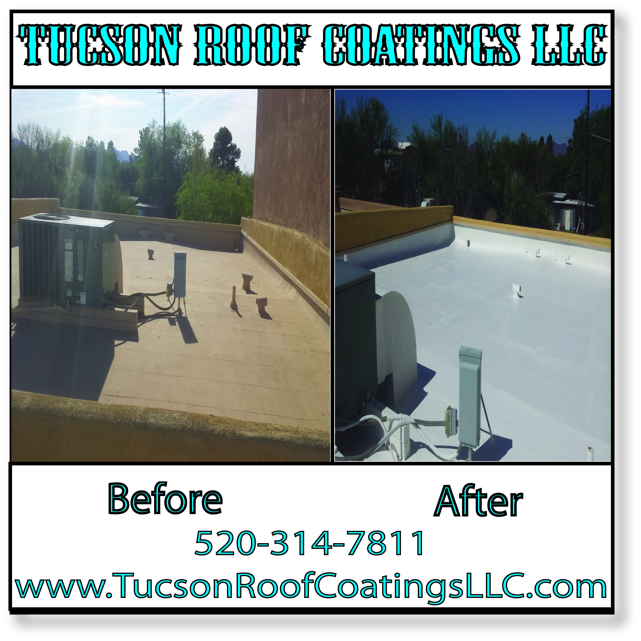Before And After 4-14-2016 Tucson Roof Coatings LLC 1