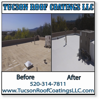 Before And After 4-16-2016 Tucson Roof Coatings LLC 1