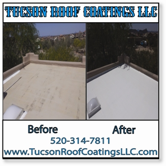 Before And After 4-16-2016 Tucson Roof Coatings LLC 2