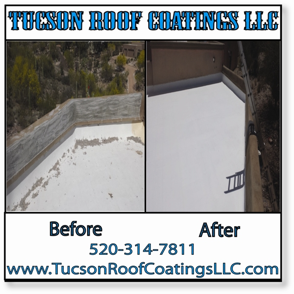 Before And After 5-10-2016-2 Tucson Roof Coatings LLC