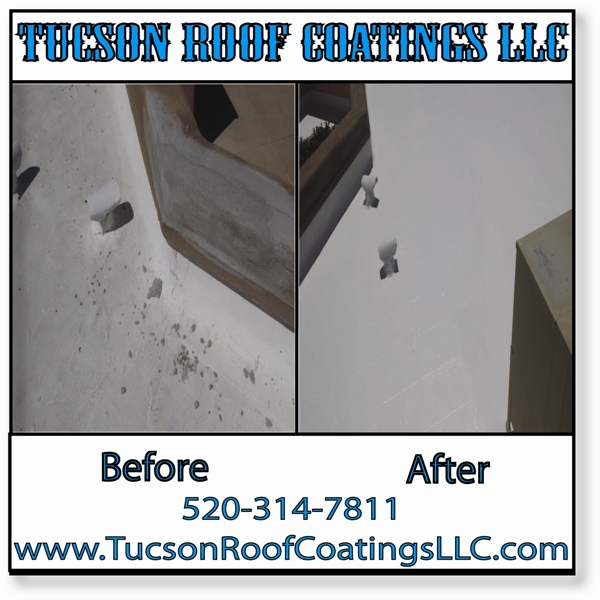 Before And After 5-10-2016 Tucson Roof Coatings LLC