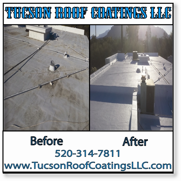 Before And After 5-21-2016 Tucson Roof Coatings LLC