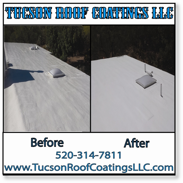 Before And After 5-24-2016-2 Tucson Roof Coatings LLC