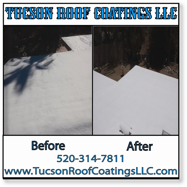 Before And After 5-24-2016 Tucson Roof Coatings LLC